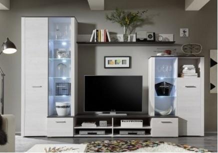 Parete attrezzata per il soggiorno moderna e contemporanea ...