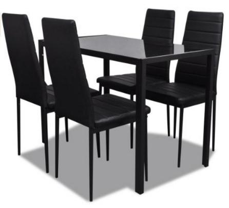 Sala da pranzo moderna con tavolo vetro temperato