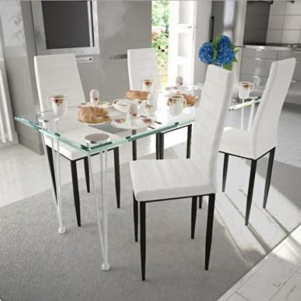 Tavolo Completamente In Vetro Per La Sala Da Pranzo