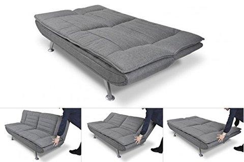 Divano letto in tessuto grigio