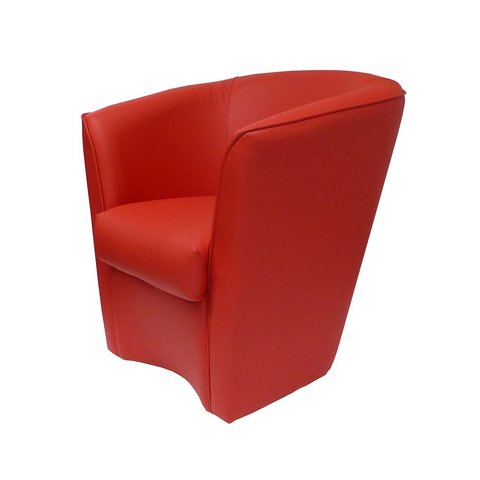 Poltroncina moderna rossa