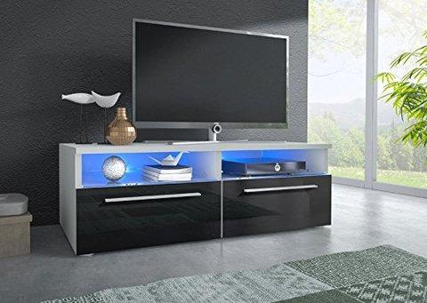 Mobile soggiorno laccato nero e perla