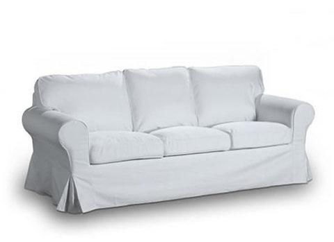 Divano tre posti letto tessuto bianco