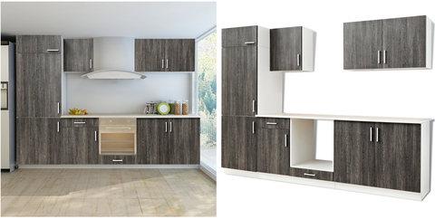 Cucina moderna grigio e beige