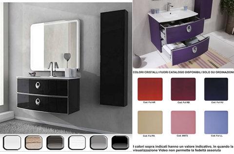 Mobile bagno vari colori con specchio