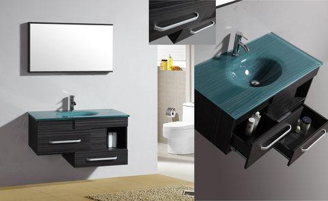 Mobile bagno con lavabo vetro