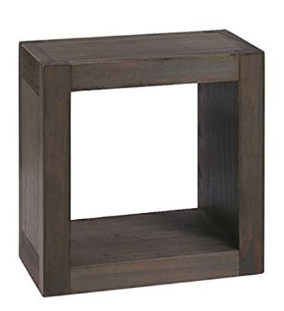 Mensola sospesa in legno massiccio per la sala