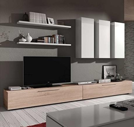 Parete attrezzata con mobili sospesi moderna e unica grandi sconti idee per arredare casa - Idee casa unica ...