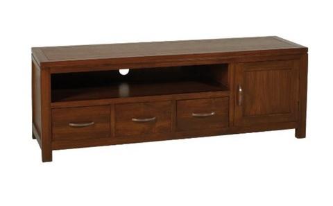 Panca porta tv elegante in legno