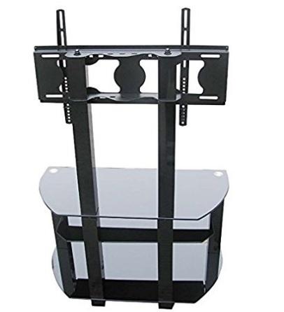 Porta tv mobile elegante in alluminio due ripiani