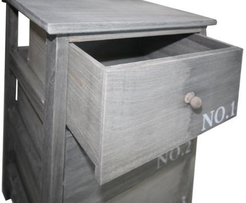 Comodino in legno di paulownia per la camera da letto for Paulownia legno mobili