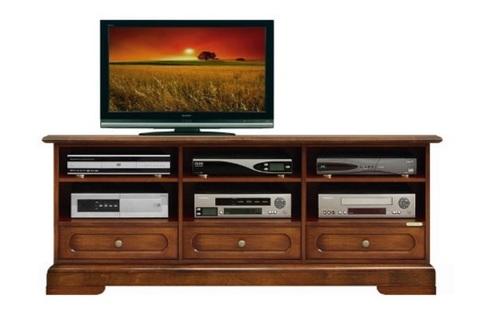 Mobile in legno classico per il soggiorno porta tv for Sconti mobili