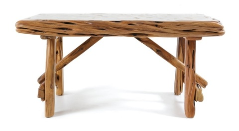 Tavolo in legno di ginepro unico