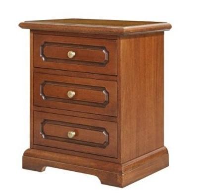 Comodino classico in legno per la camera da letto