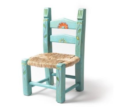 Sedia piccola in legno decorato per bambini