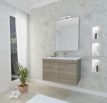 Mobile per il bagno sospeso e moderno