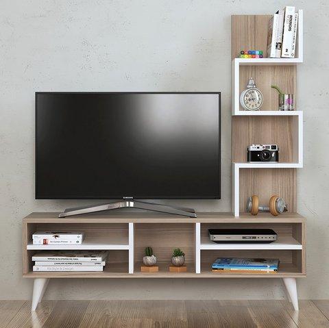 Mensola attrezzata porta televisore innovativa