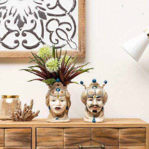 Vaso In Ceramica Centrotavola Per Arredo