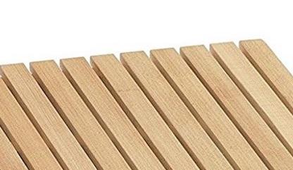 Pedana Doccia Antiscivolo in bamb/ù Colore Miele Quadrata 50 x 50 cm
