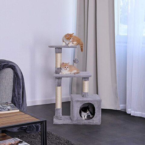 Tiragraffi castello gioco per gattini