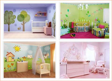 Decorazioni camerette neonati grandi sconti artecolor - Decorazioni per camerette ...