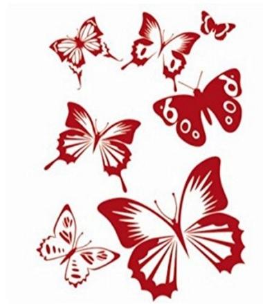 Pittura e decorazioni murali farfalle