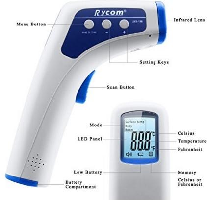 Termometro Infrarossi Digitale Schermo Lcd