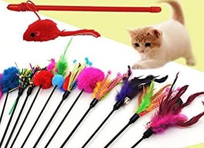 Gatti Accessori Giochi Bacchette Colorate