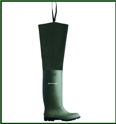 Stivali per la pesca professionali e verdi