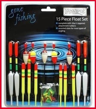 Galleggianti colorati 15 pezzi per la pesca