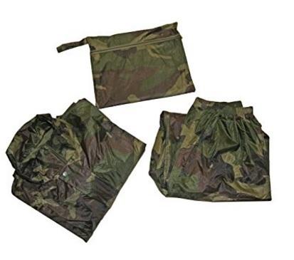 Giacca e pantalone elasticizzati militare per pesca