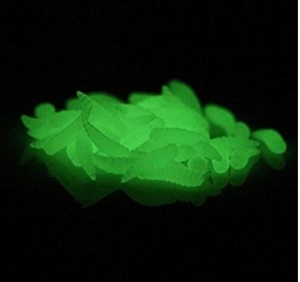 Esche finte e fluorescenti per pescare anche al buio