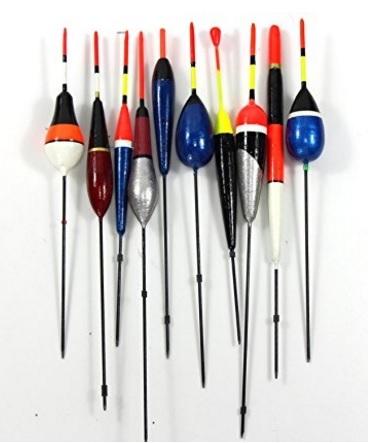 Galleggianti vari per la pesca diversi colori e forme
