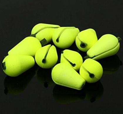 Galleggiante fluorescente a forma di goccia