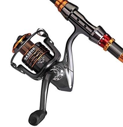 Mulinello canna pesca telescopica da spinning