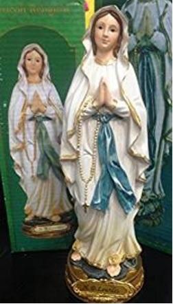Statuetta della sacra madonna lourdes articolo regalo