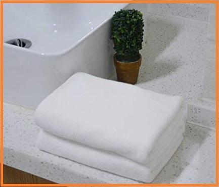 Asciugamani microfibra bianco