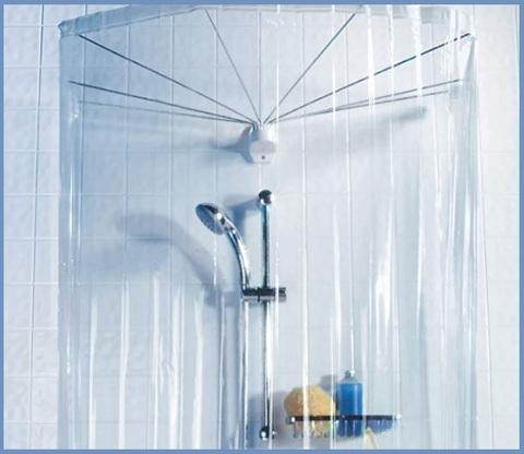 Asta tenda doccia a ombrello moderna