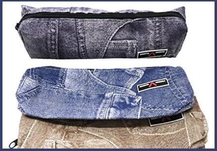 Astuccio denim in jeans portapenne