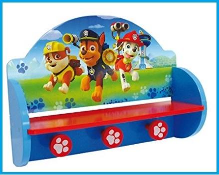 Attaccapanni per camerette bambini paw patrol