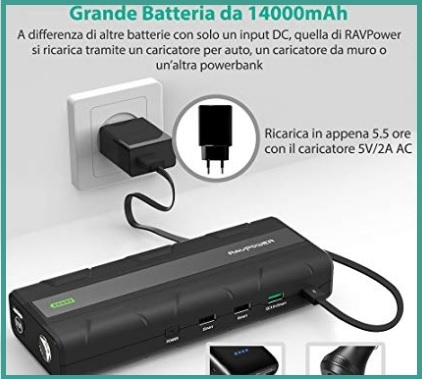 Avviatore Auto 1000a Quick Charge