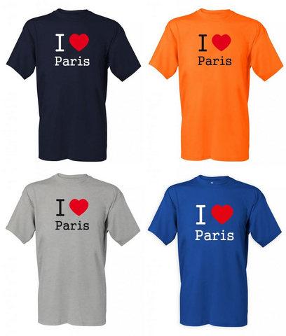 Magliette Personalizzate Ricamate I Love Paris