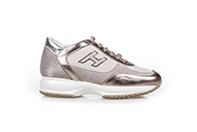 Scarpe della marca hogan da donna interactive platino