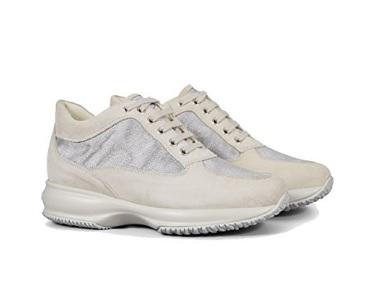 Scarpe scamosciate bianche della hogan da donna