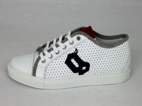 Scarpe basse sneakers john galliano a pois