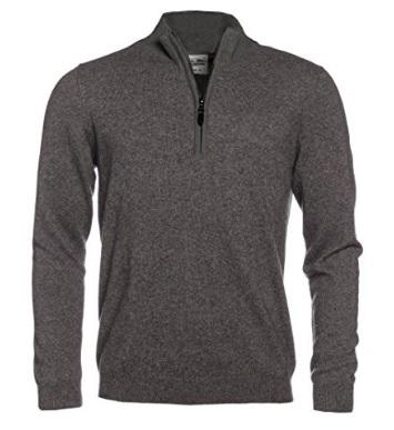 Maglione in cashmere alla moda e trendy con zip