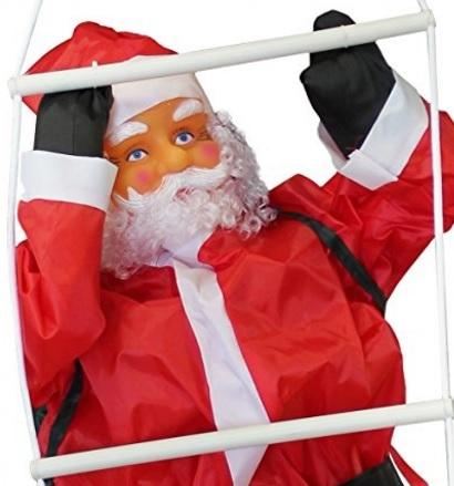 Babbo natale decorazione natalizia con scala