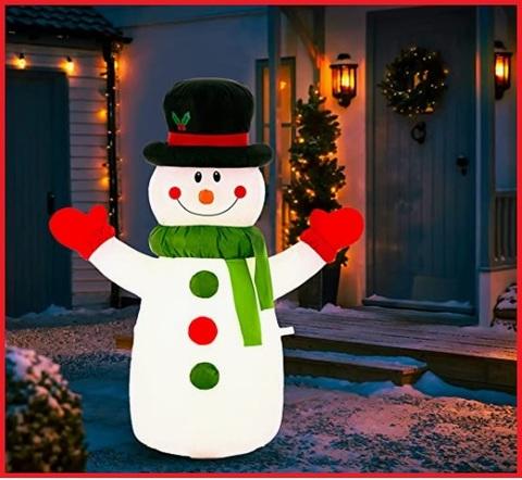 Pupazzo di neve gonfiabile decorazione