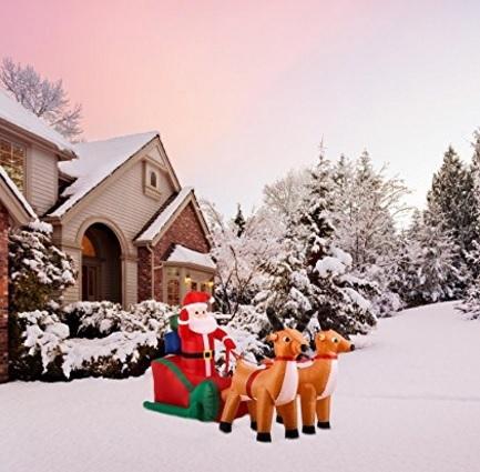 Decorazione natalizia con slitta babbo natale