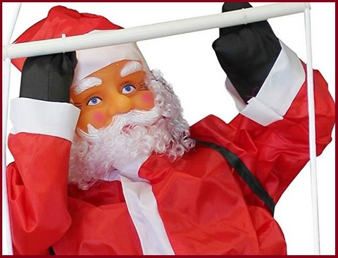 Babbo Natale Gonfiabile Scala